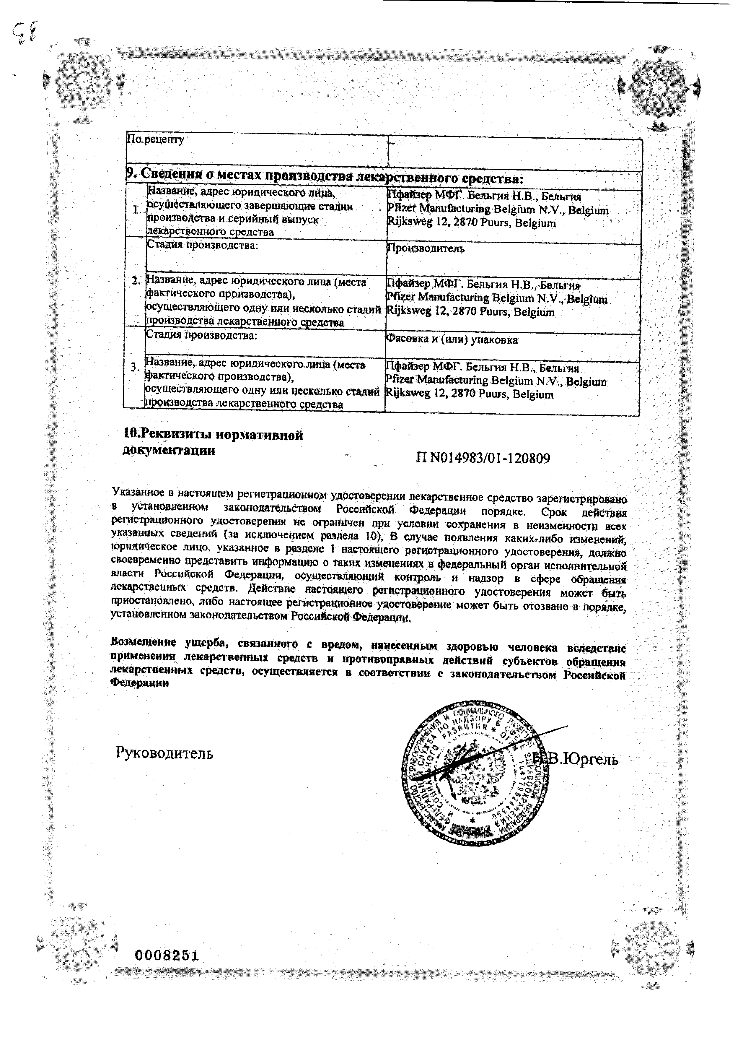 Солу-Медрол сертификат