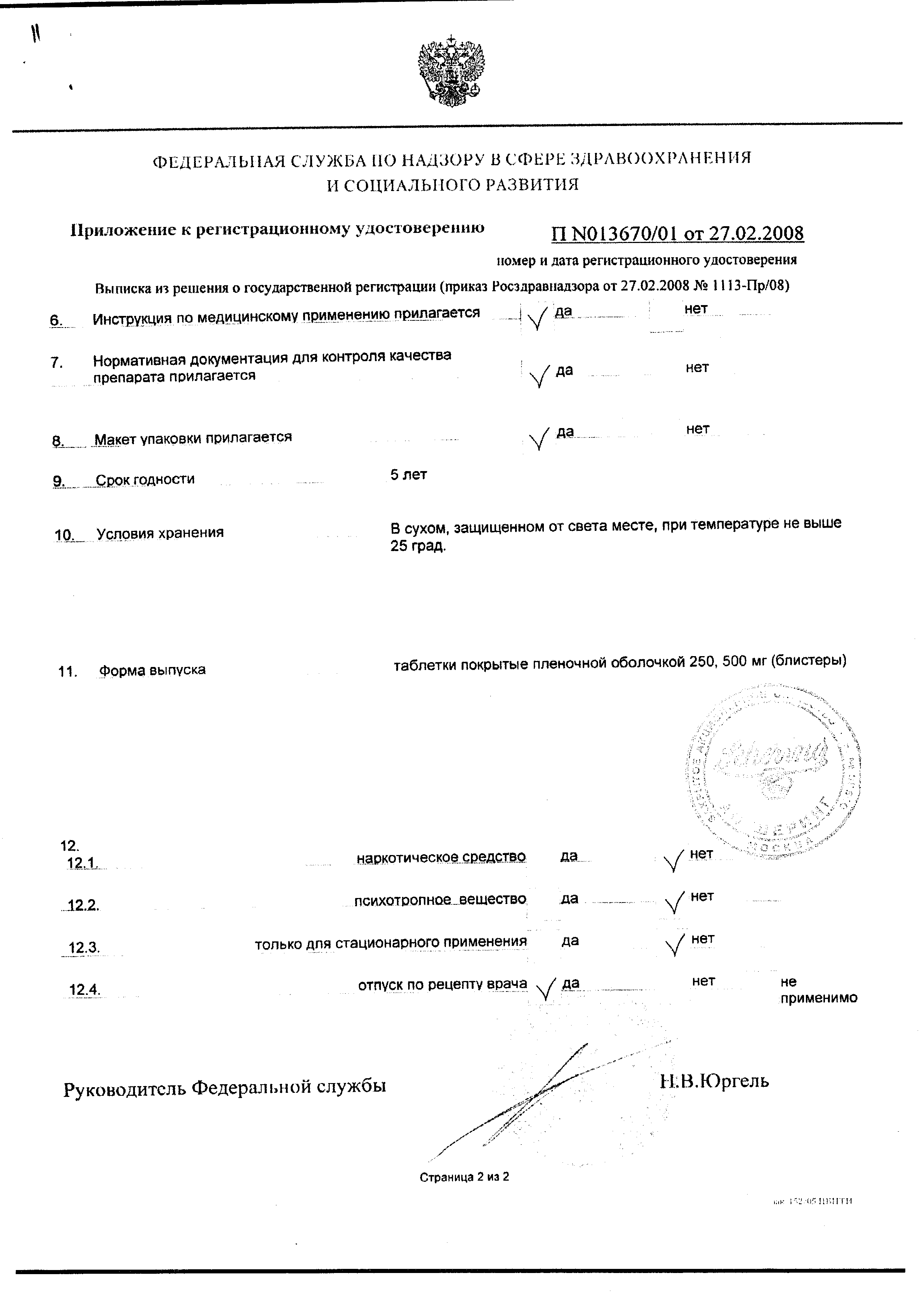 Ципробай сертификат