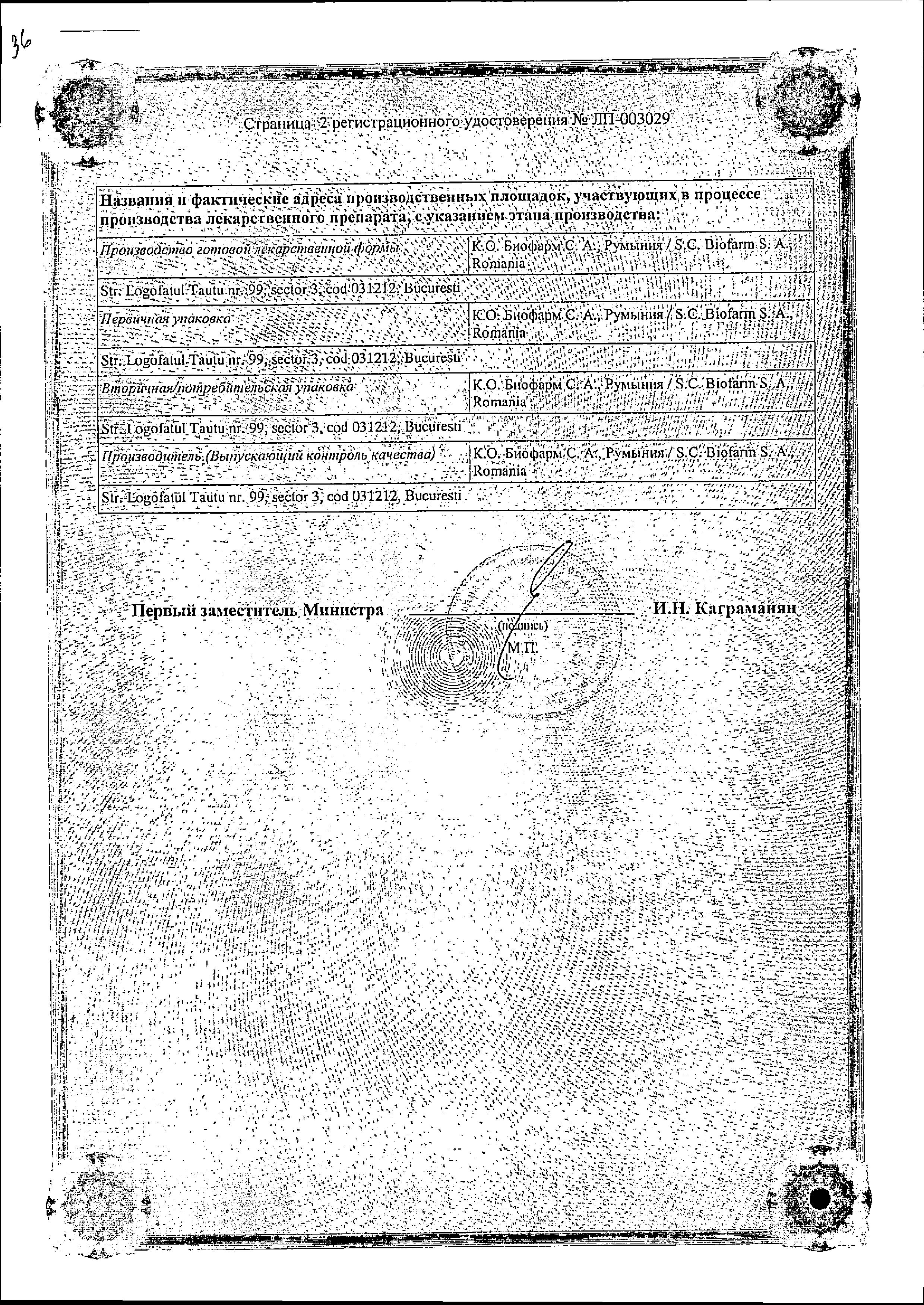 Корментол сертификат