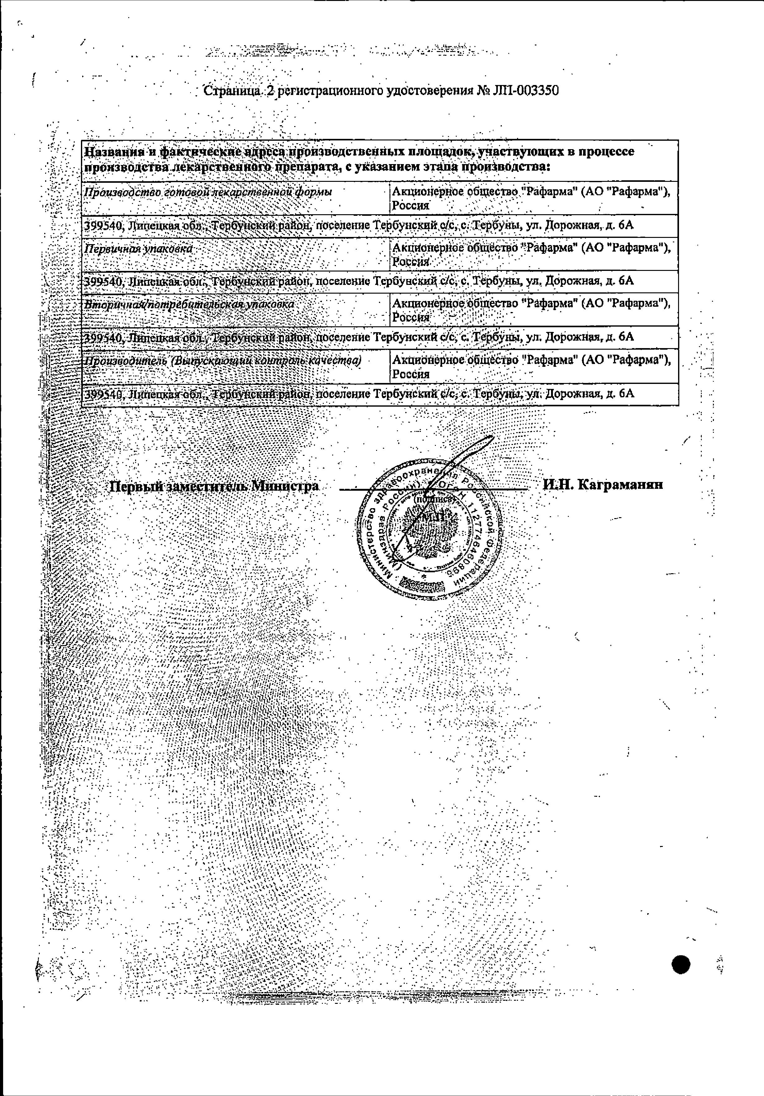 Цефтазидим сертификат