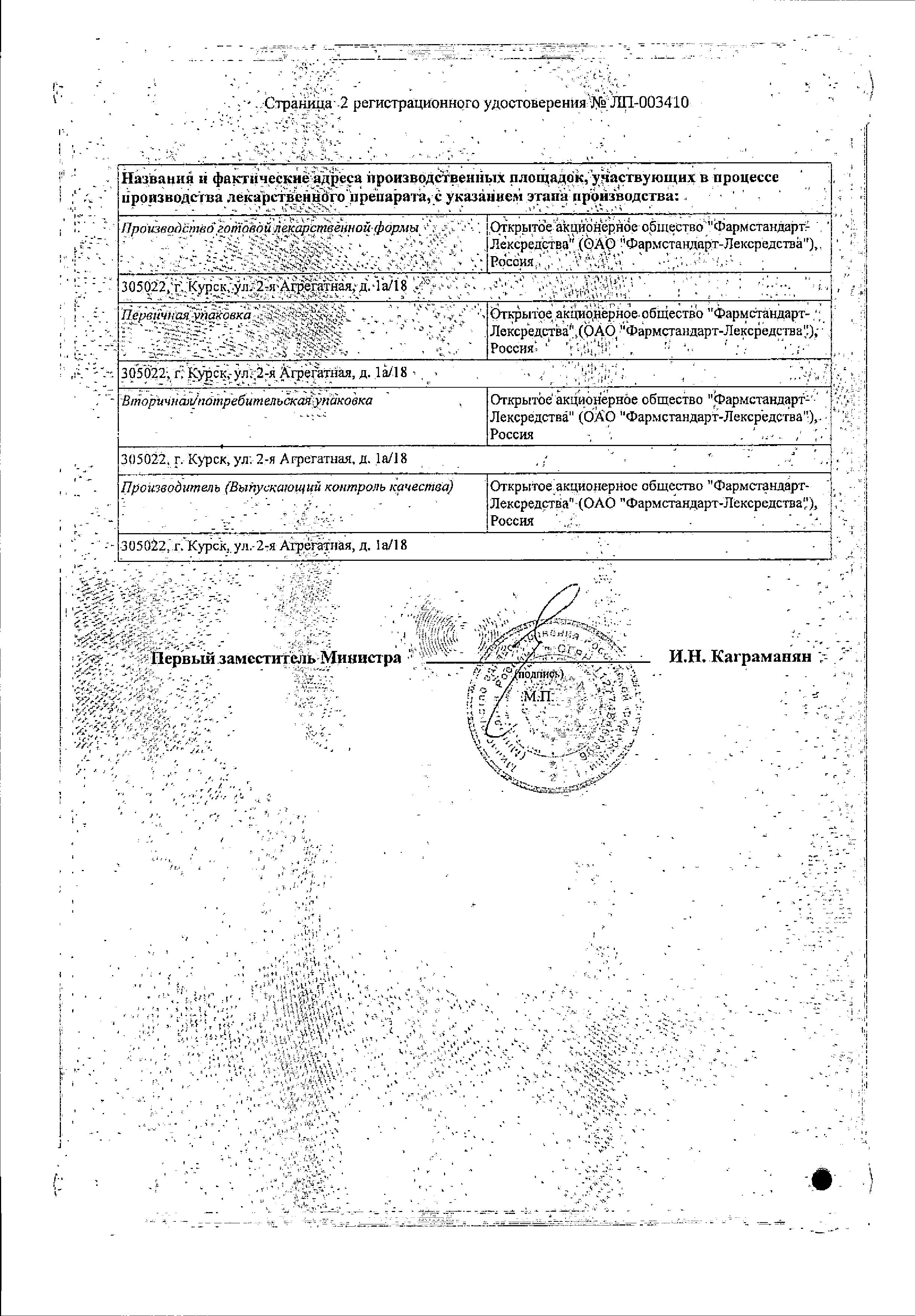 Предуктал ОД сертификат