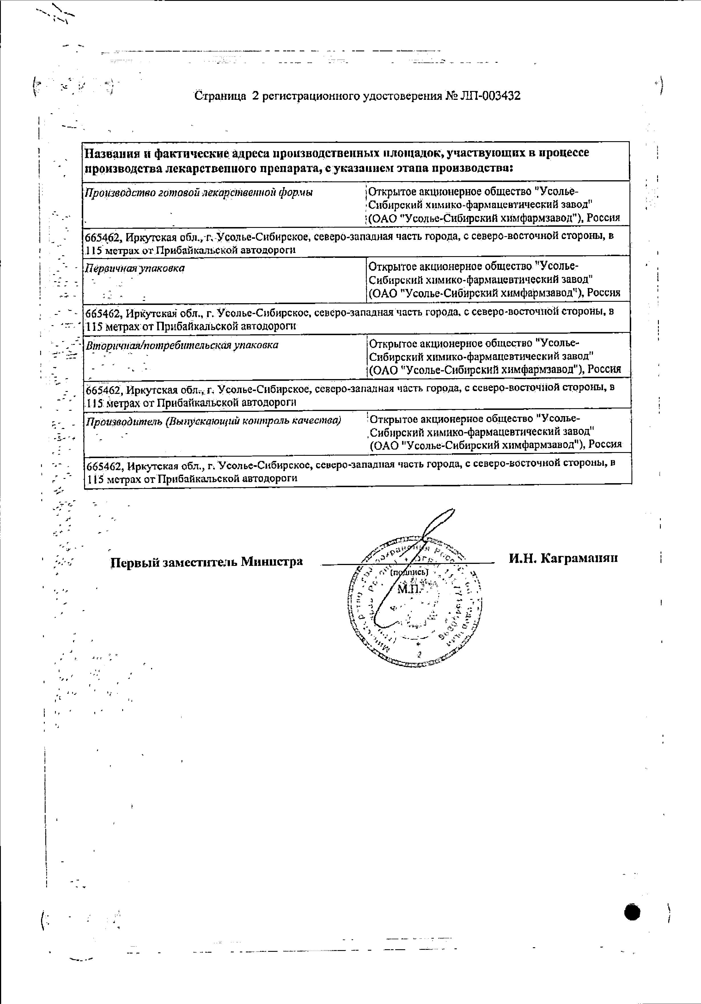 Эуфиллин сертификат