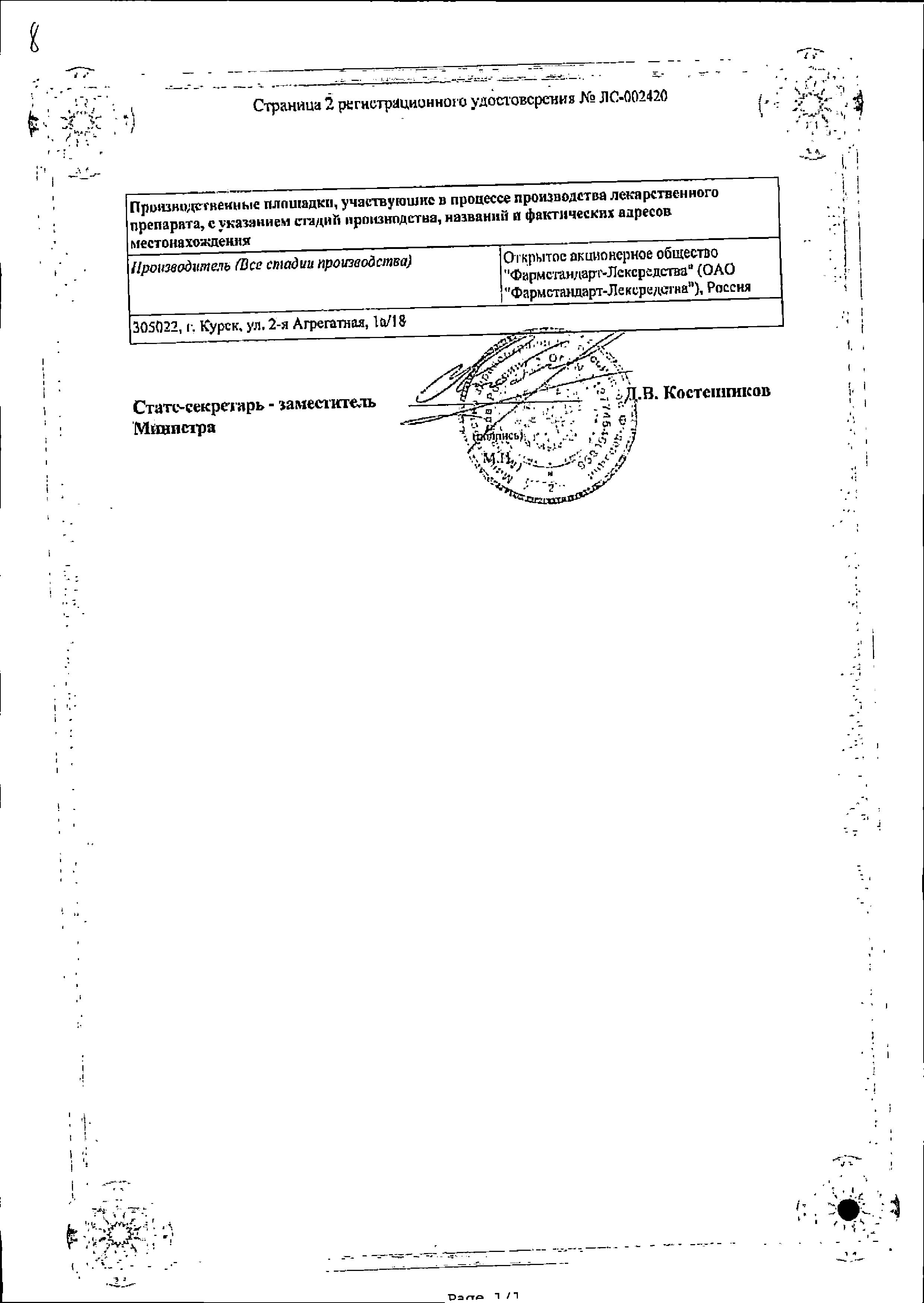 Сульфадиметоксин сертификат