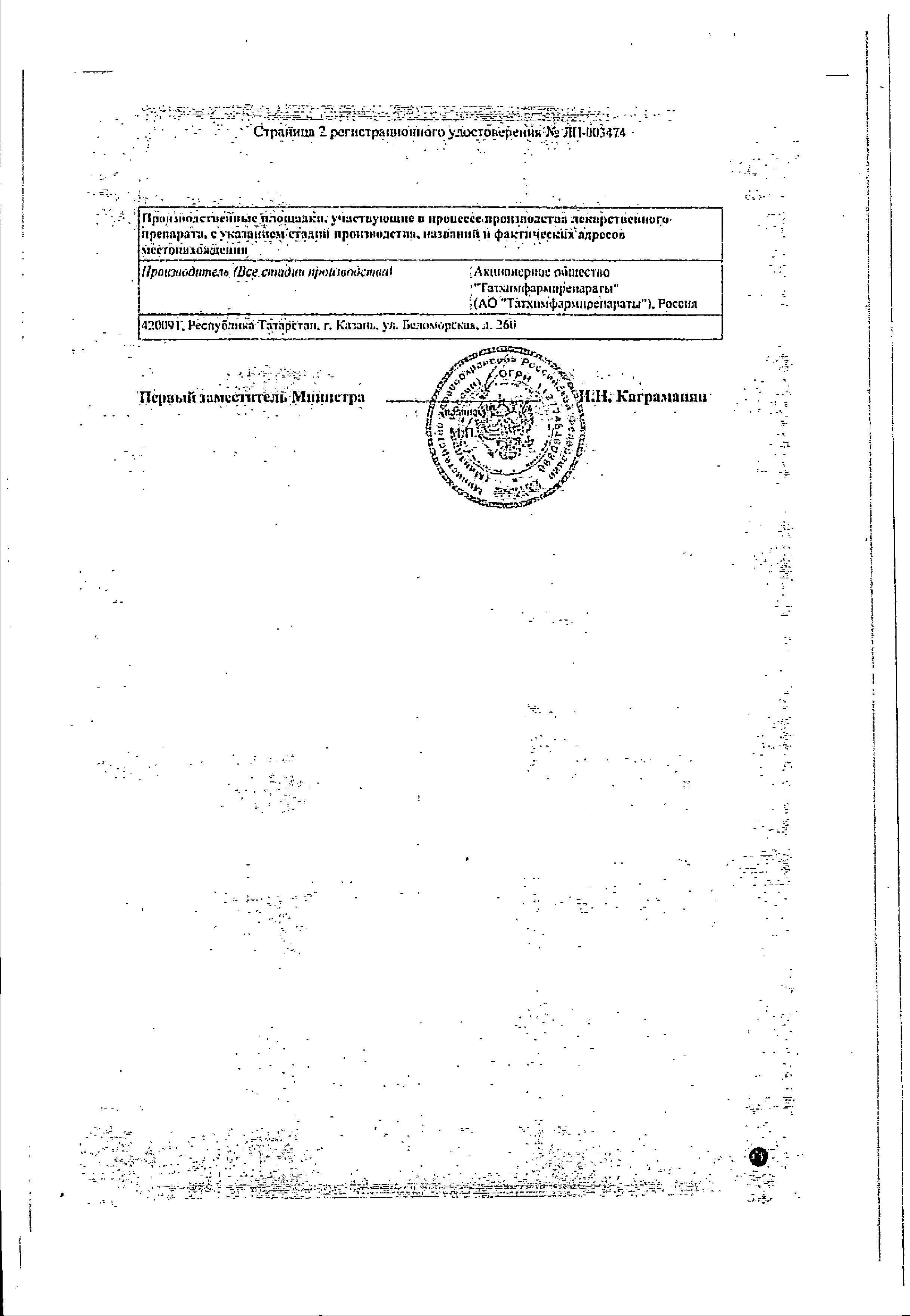 Афлюдол сертификат