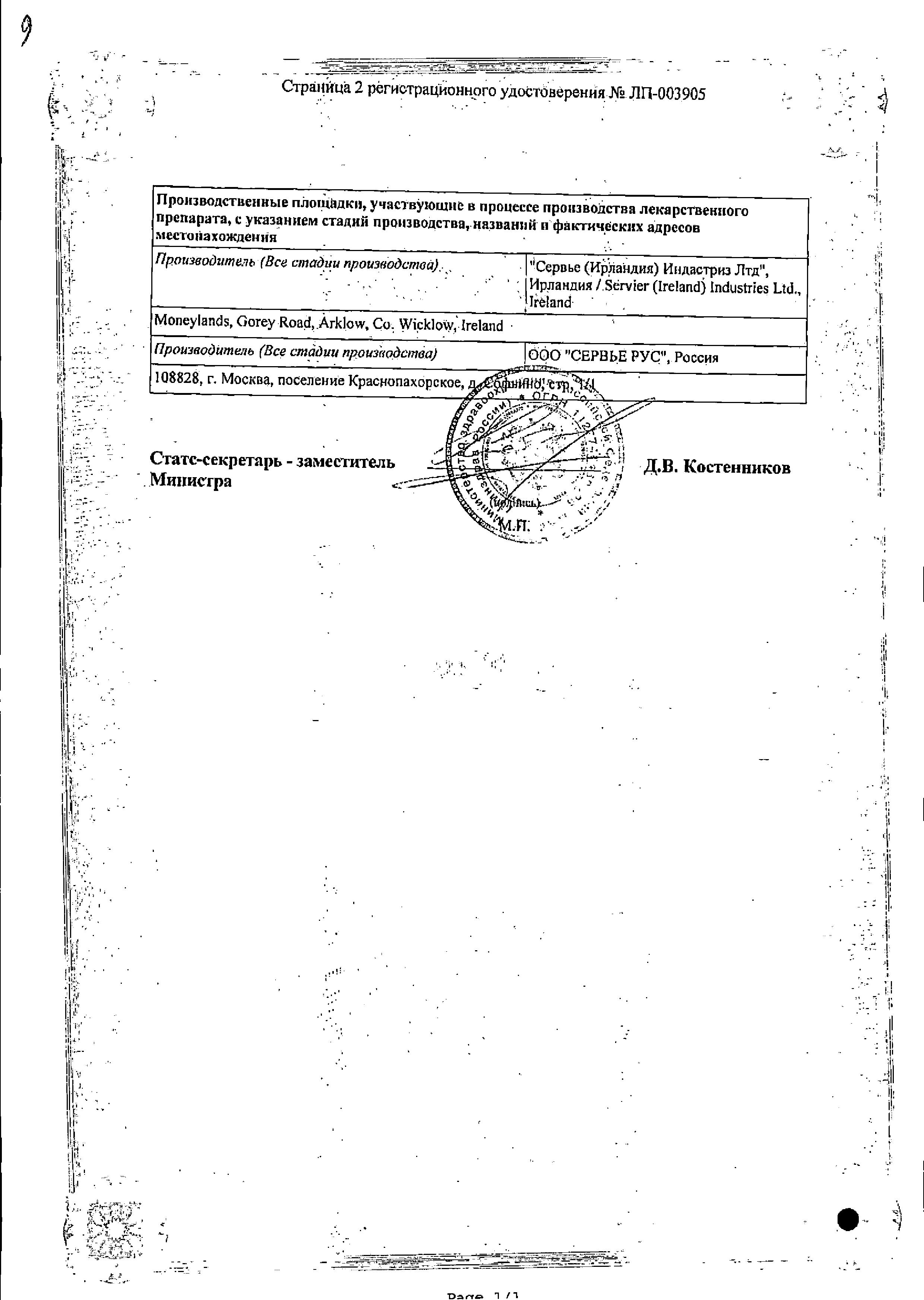 Трипликсам сертификат