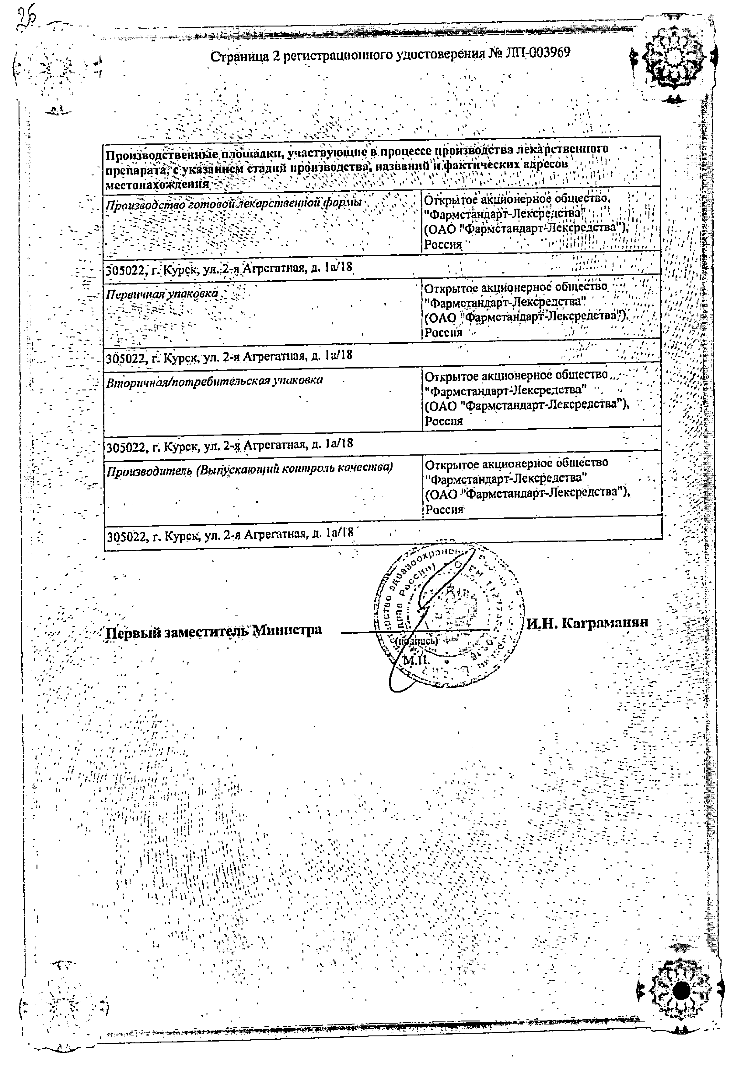 Корвалол Фито сертификат