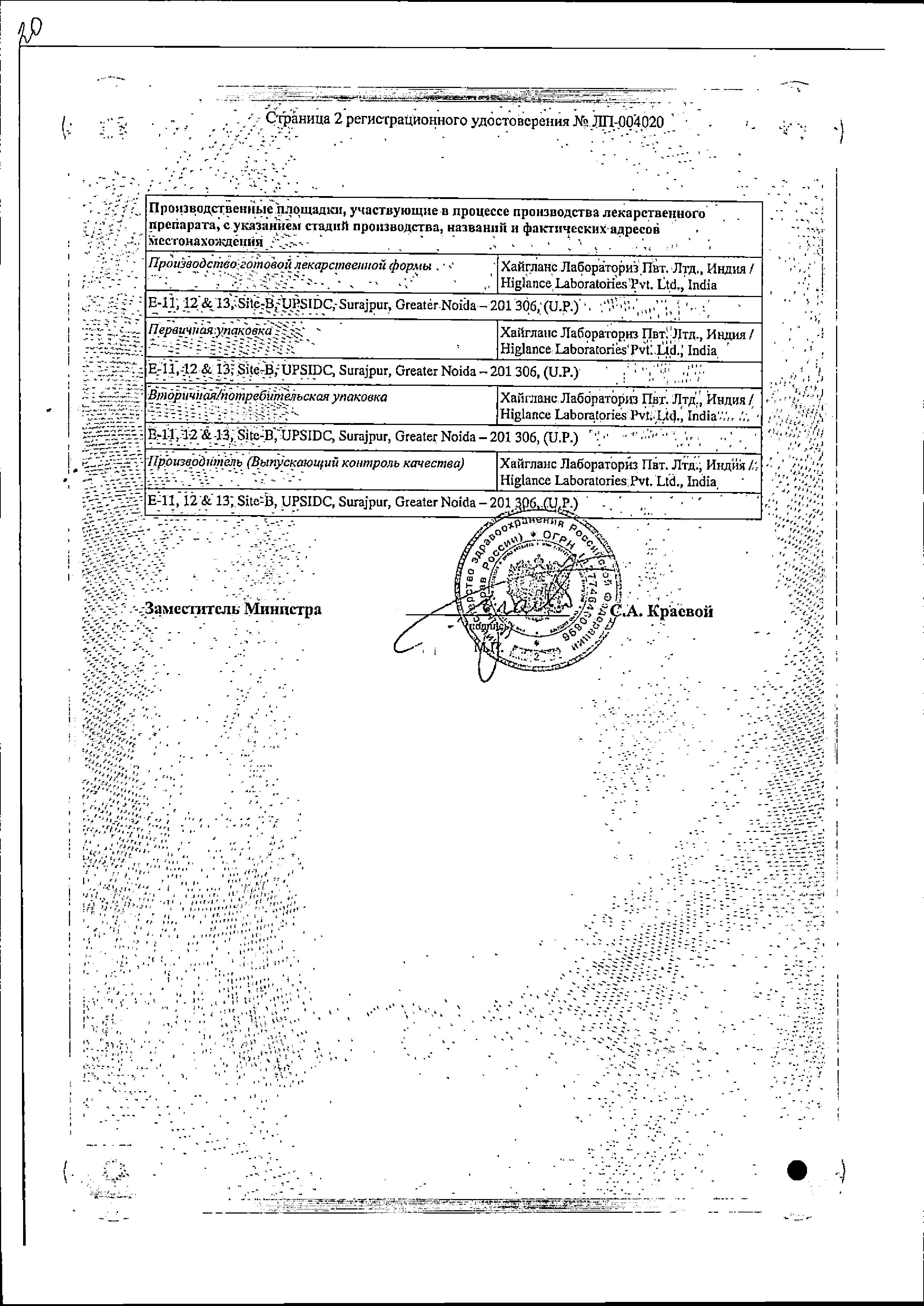 Бруфика Плюс сертификат
