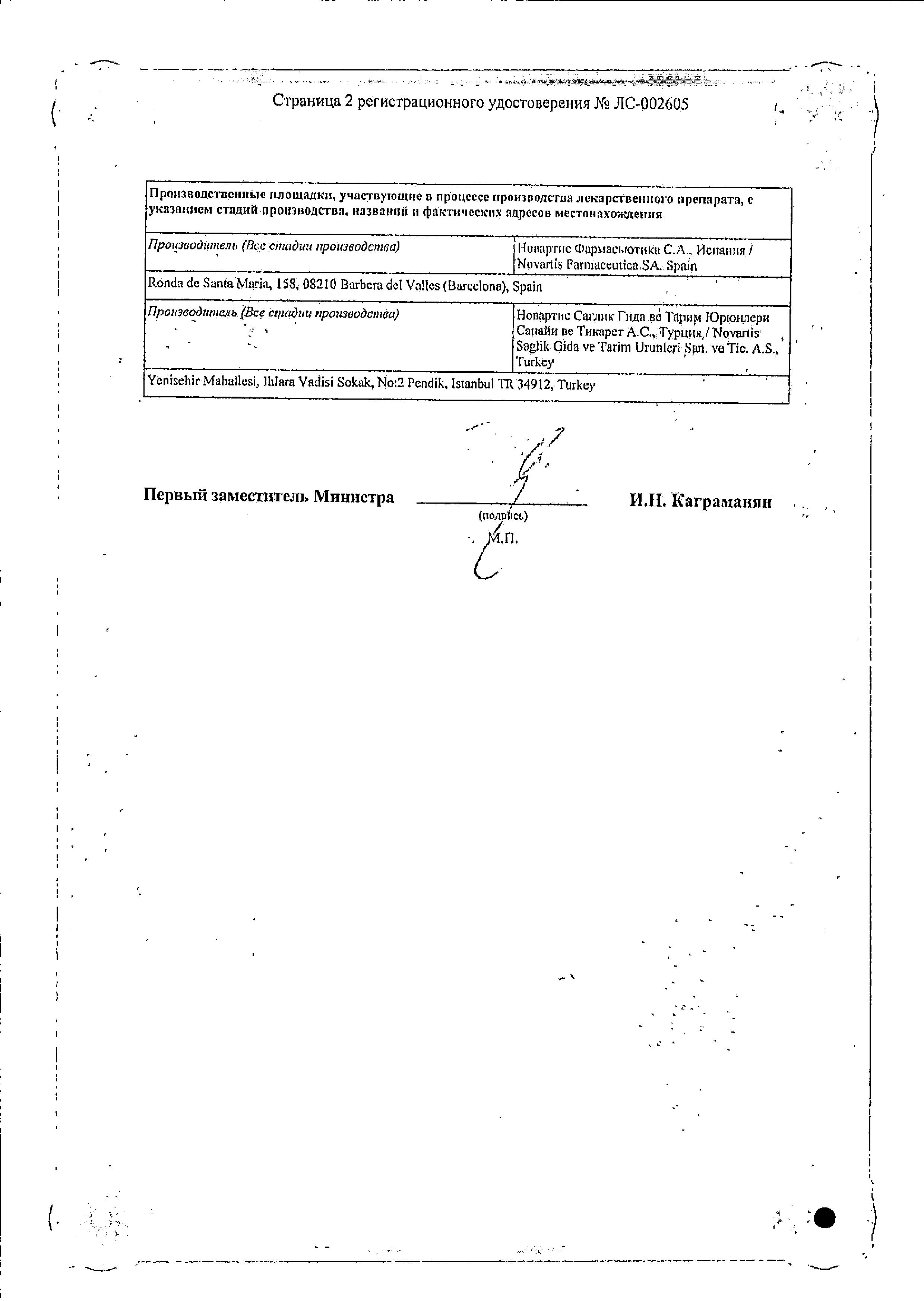 Сирдалуд МР сертификат