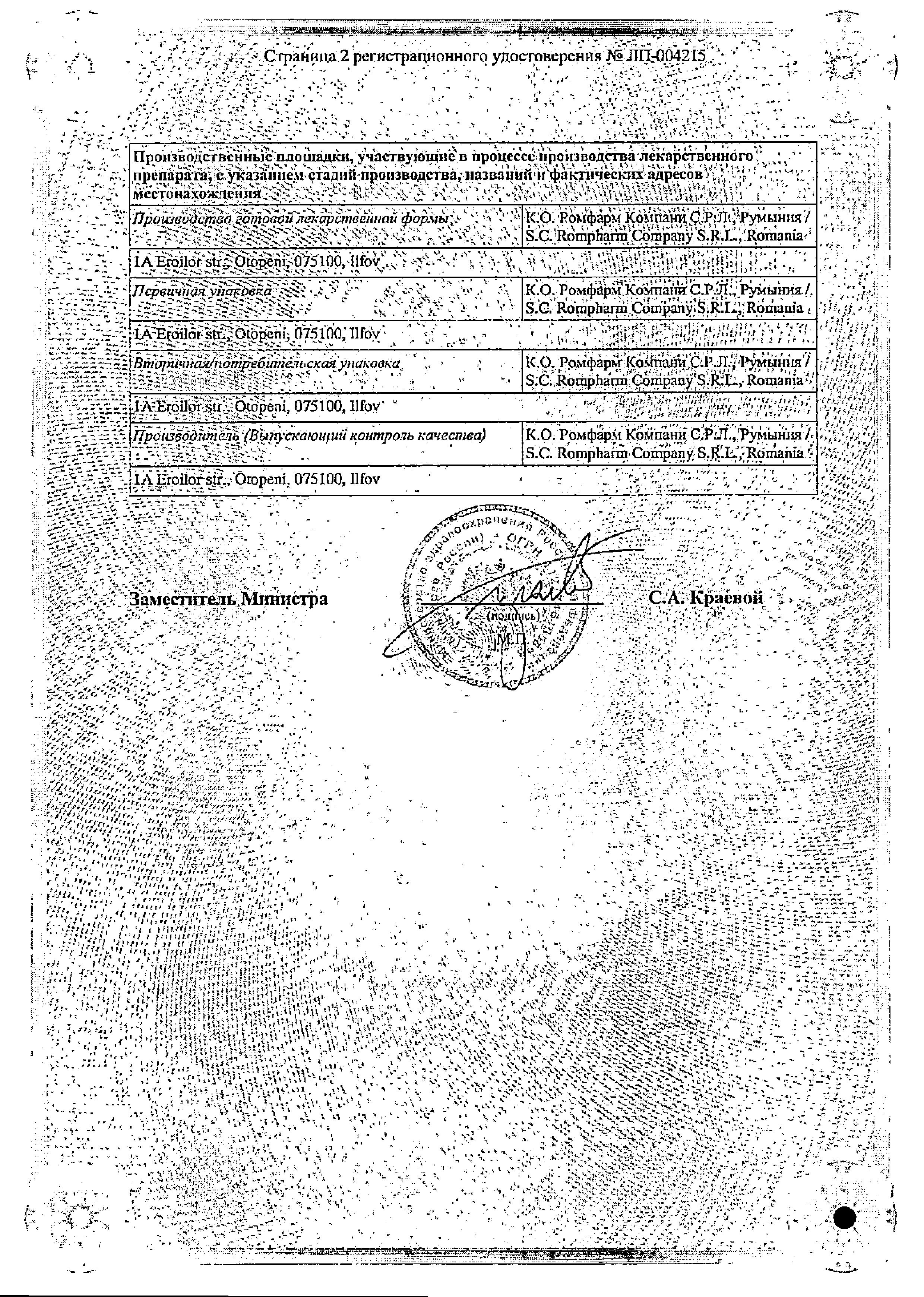 Олопаталлерг сертификат