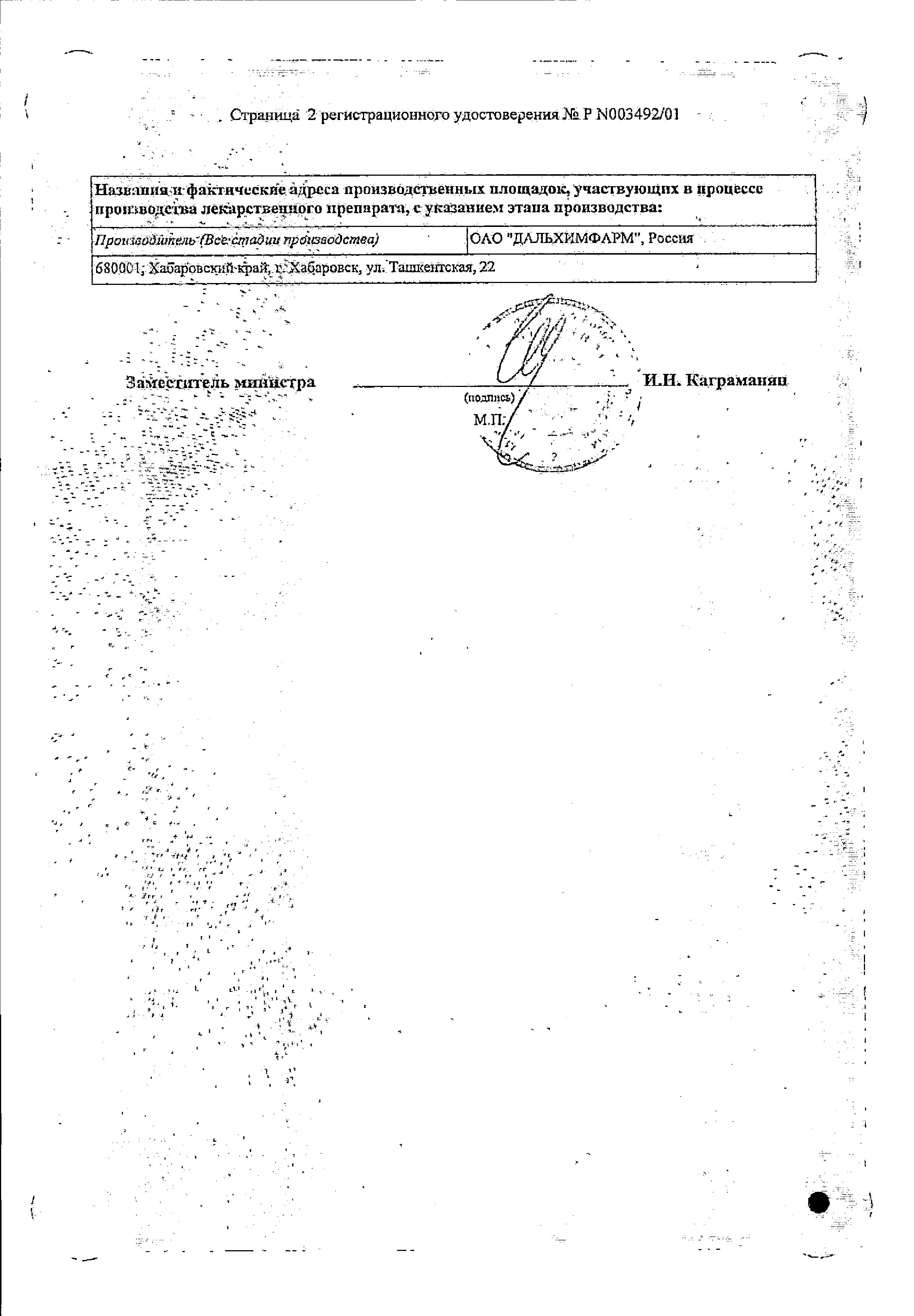 Нео-Анузол сертификат