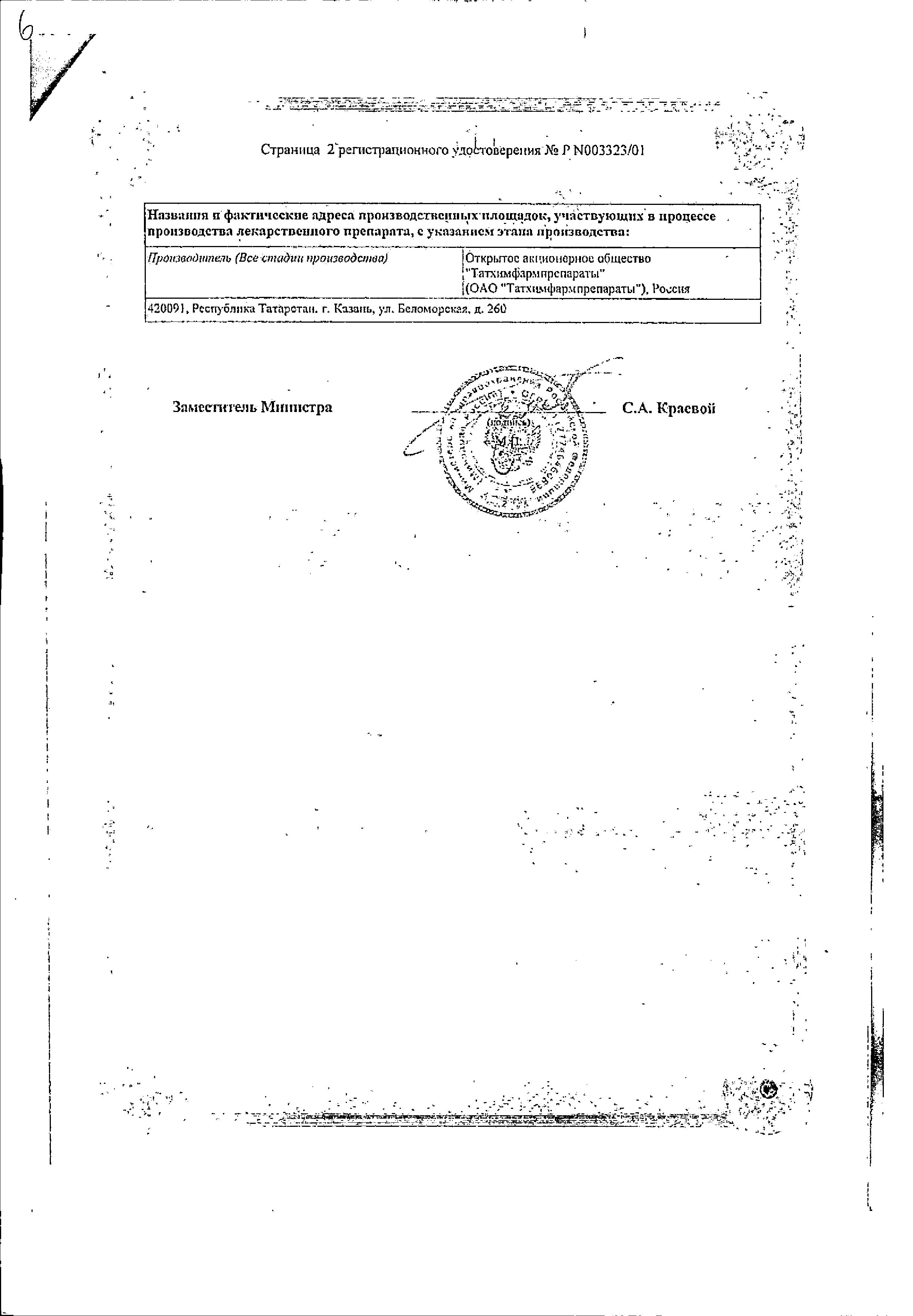 Пропазин сертификат