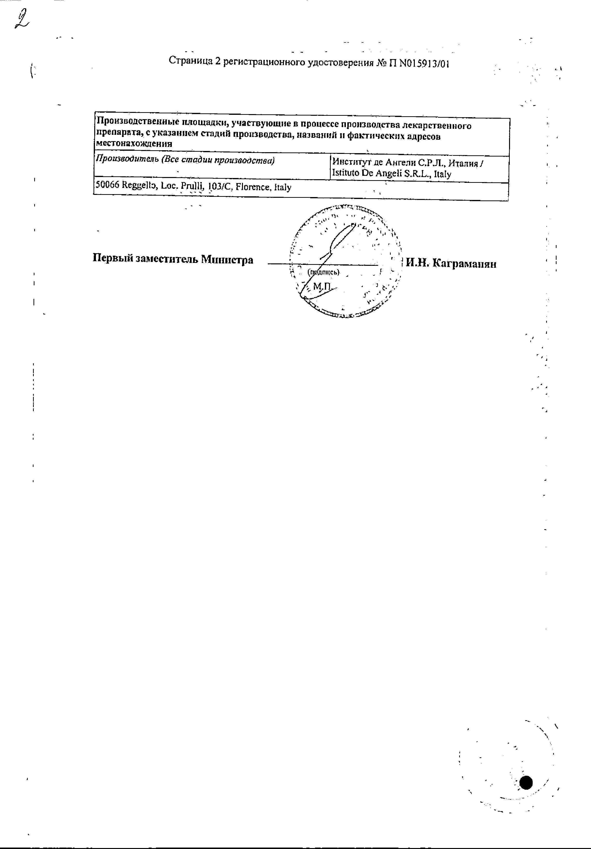 Атровент сертификат