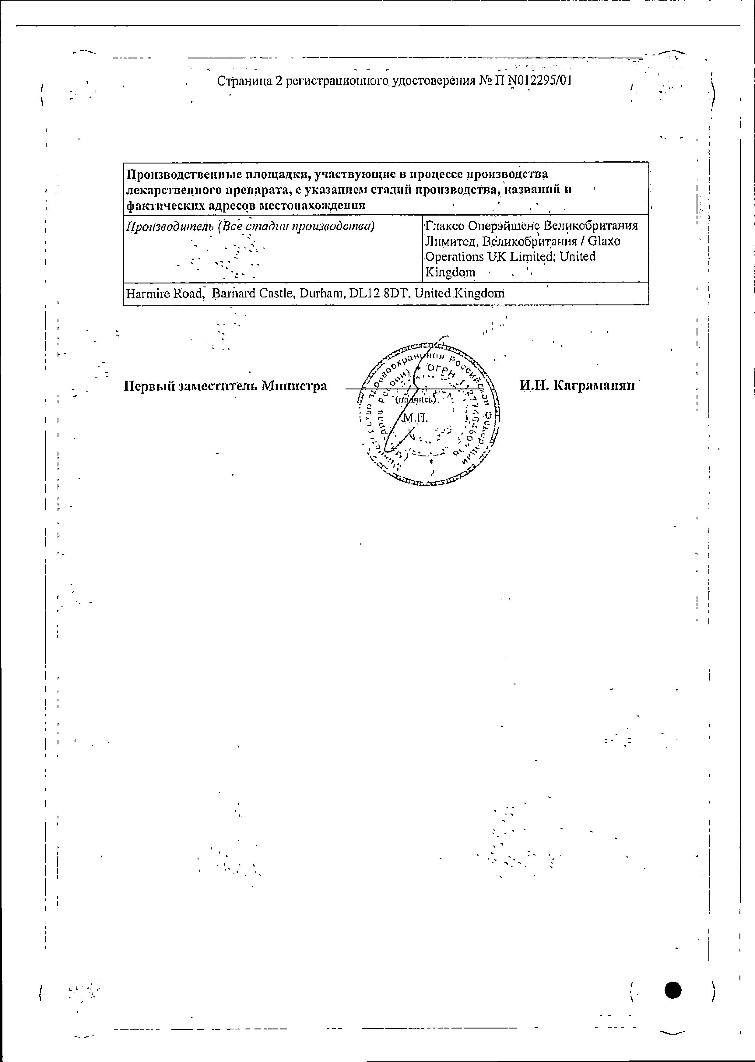 Бактробан сертификат