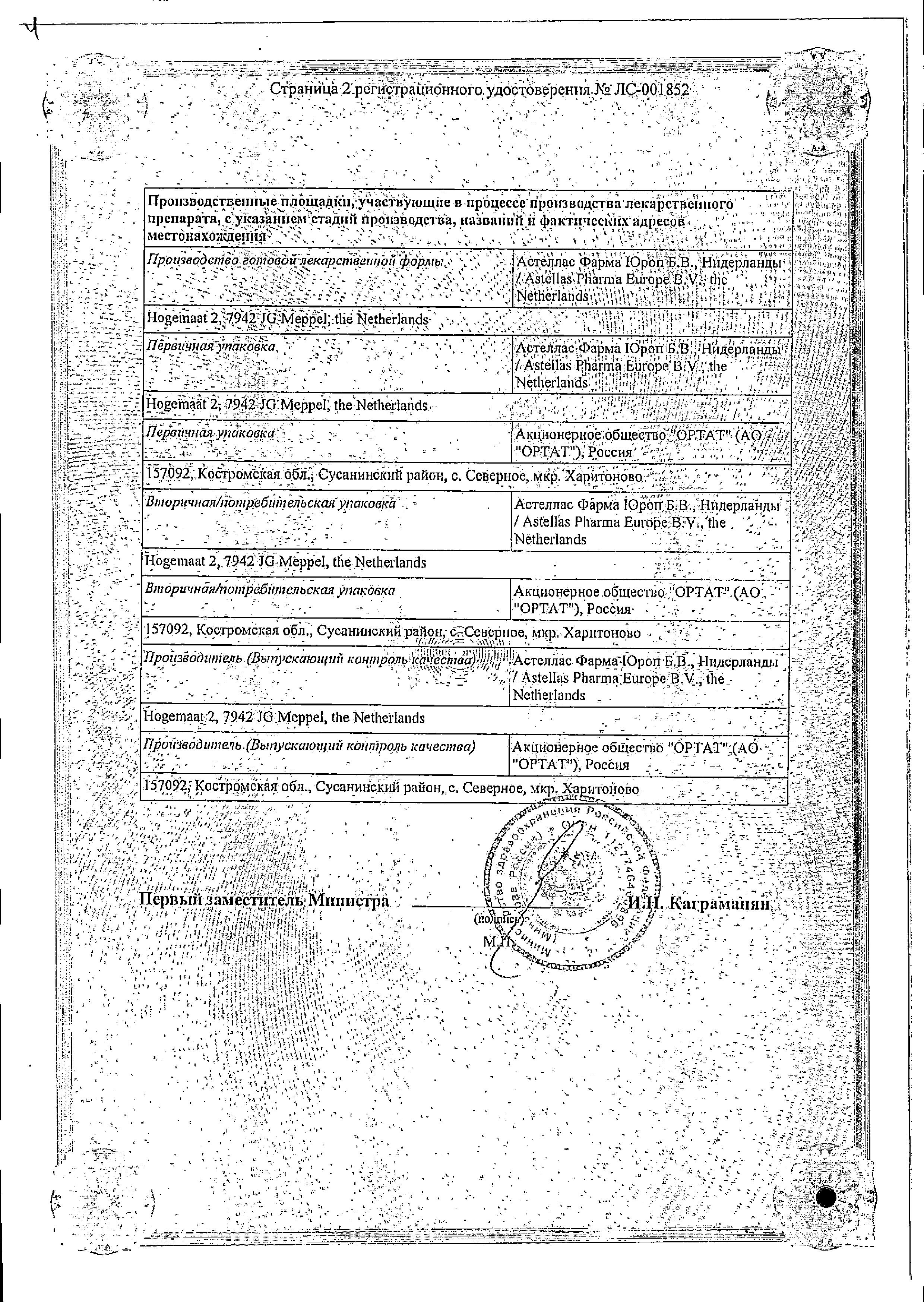 Флемоксин Солютаб сертификат