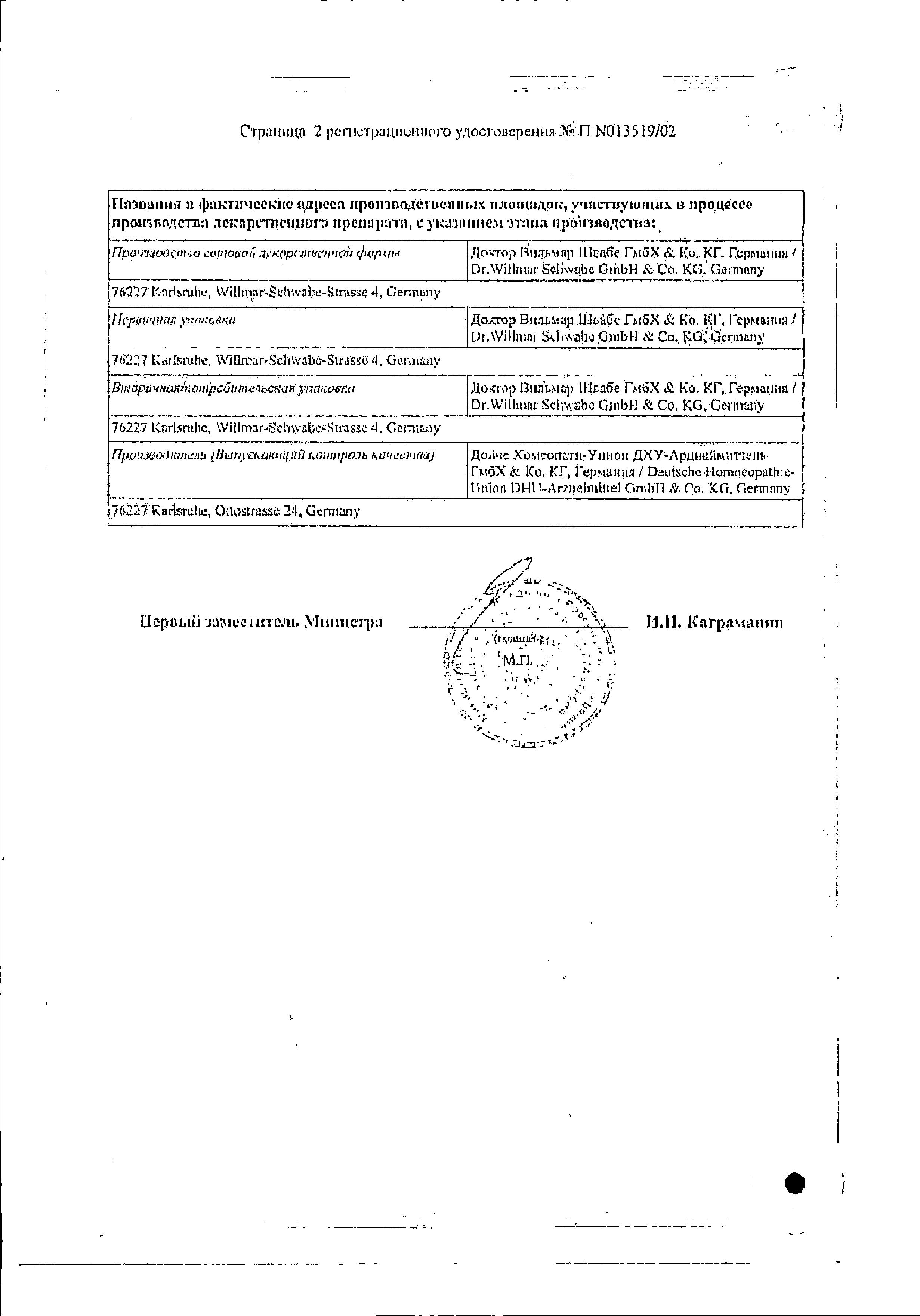 Инфлюцид сертификат
