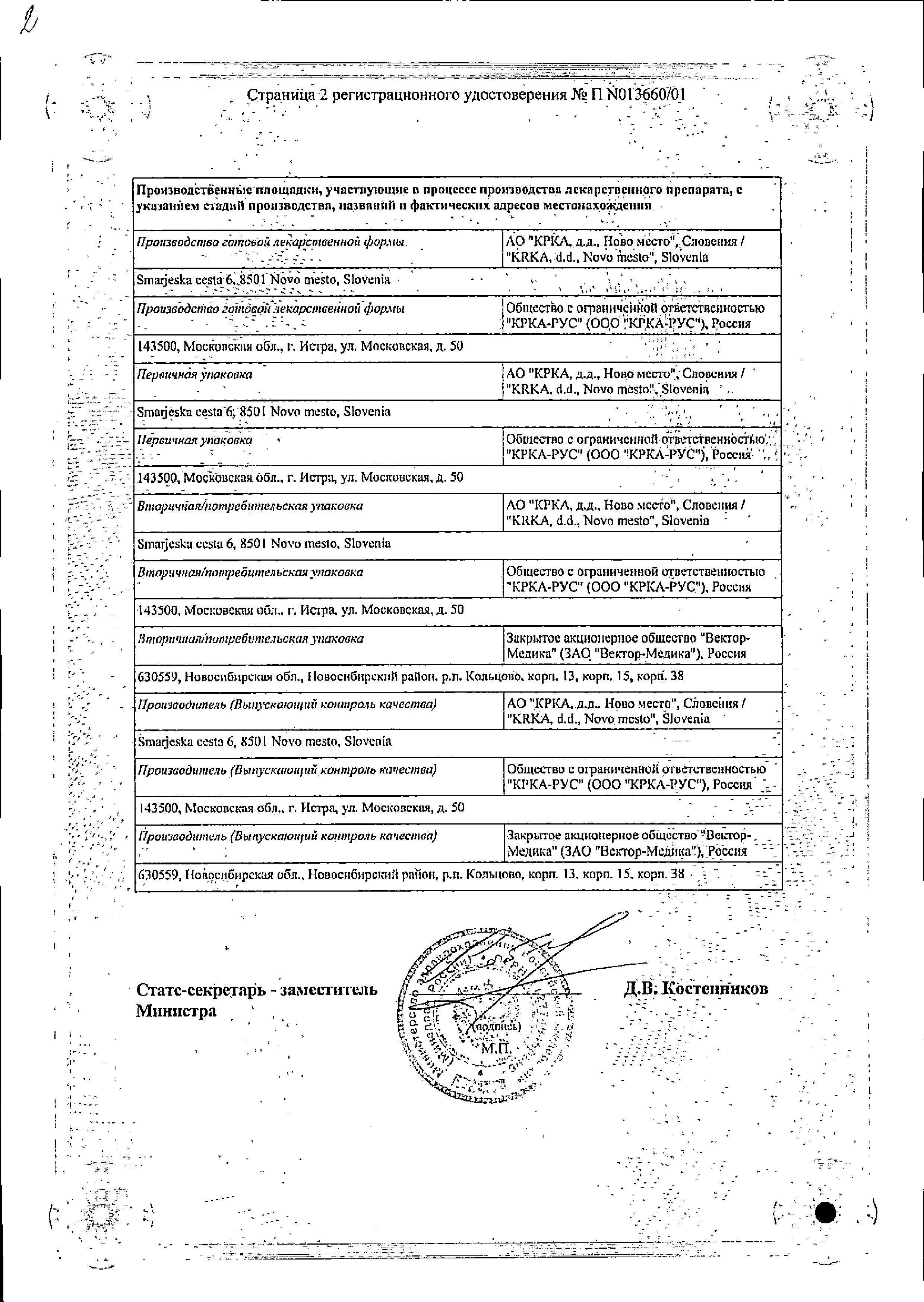 Нолицин сертификат