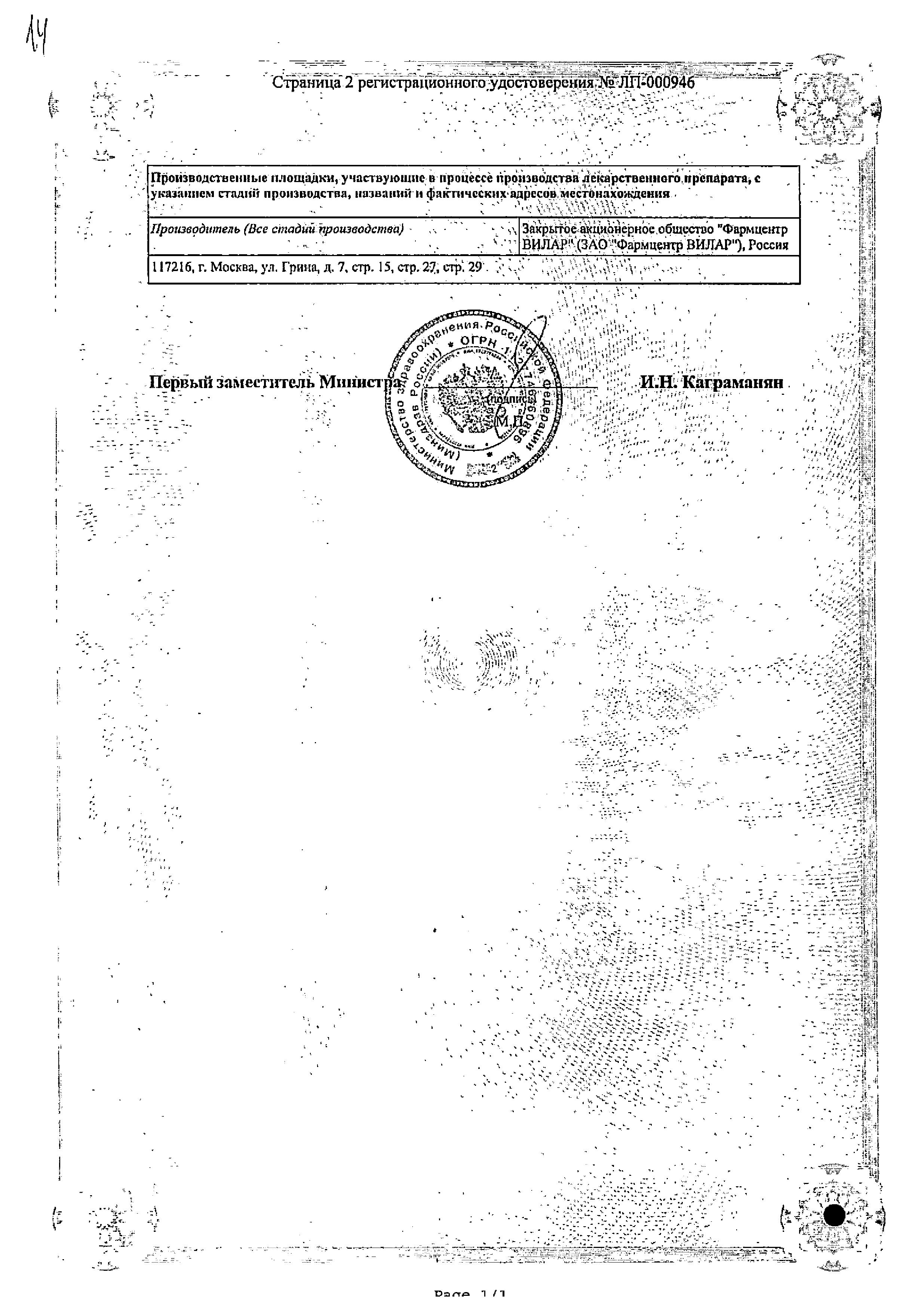 Алпизарин сертификат